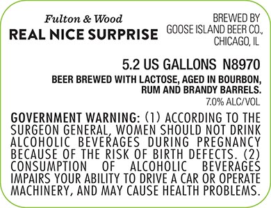 Goose Island Fulton & Wood Real Nice Surprise