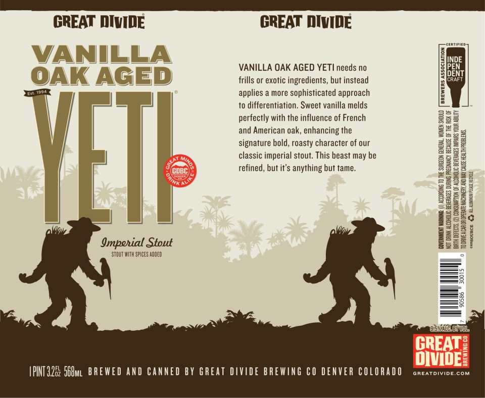 Great Divide Vanilla Oak Aged Yeti Can