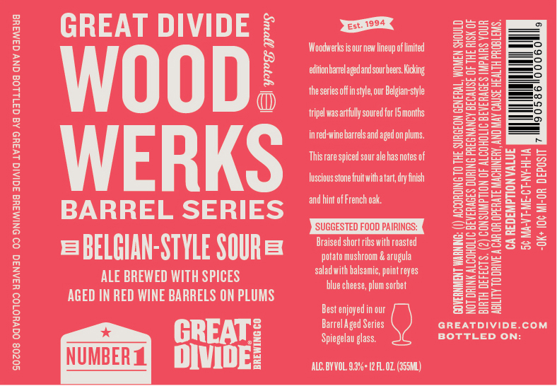 Great Divide Wood Werks Belgian-Style Sour