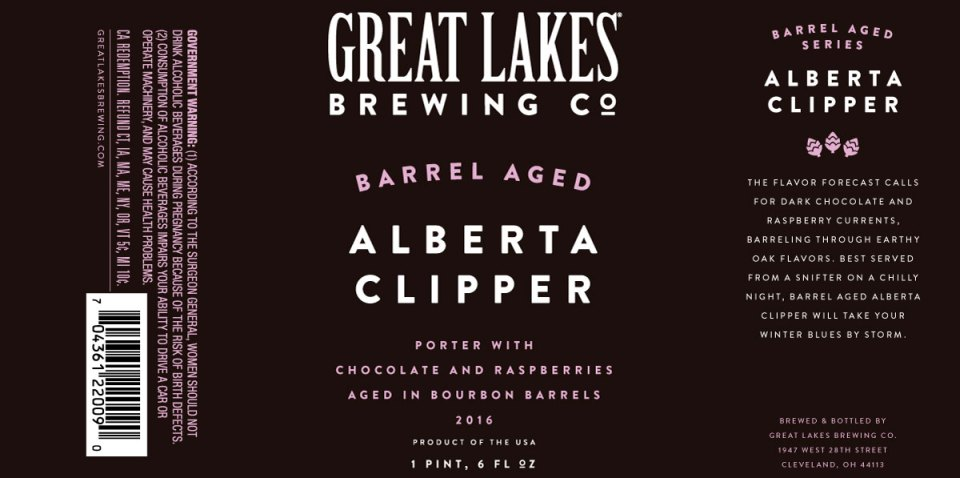 Great Lakes Barrel Aged Alberta Clipper