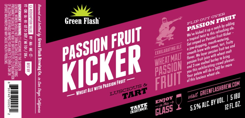57ac449ad33 Green Flash Passion Fruit Kicker, a future bottle potential - Beer ...