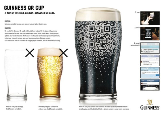 Guinness QR Glass