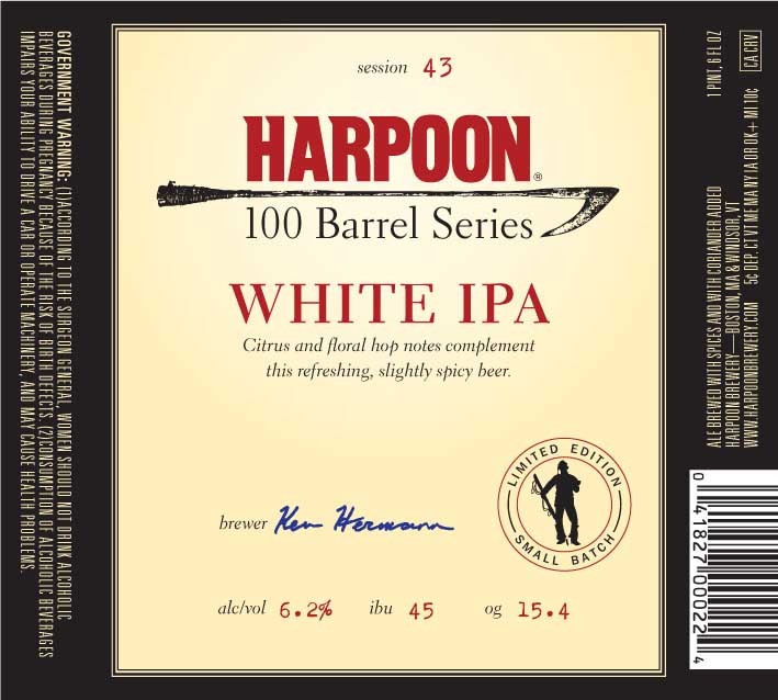 Harpoon 100 Barrel White IPA