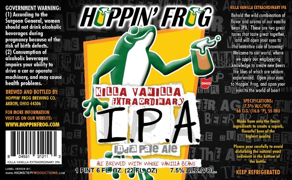 Hoppin' Frog Killa Vanilla Extraordinary IPA