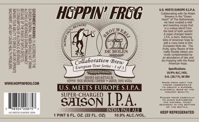 Hoppin' Frog U.S. Meets Europe S.I.P.A