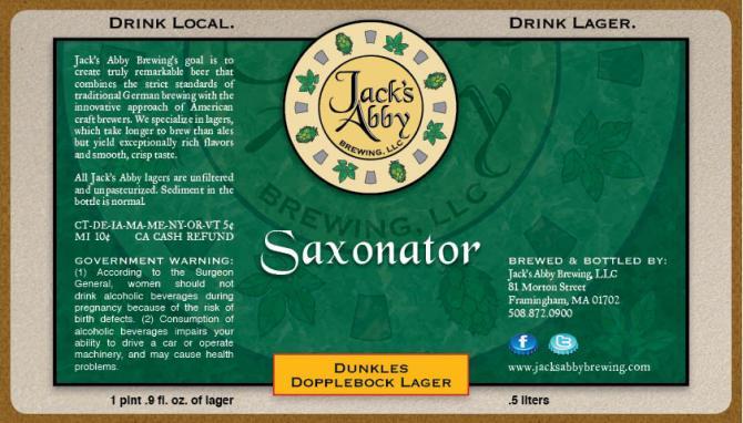 Jack's Abbey Saxonator
