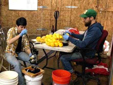 Zesting and juicing oranges