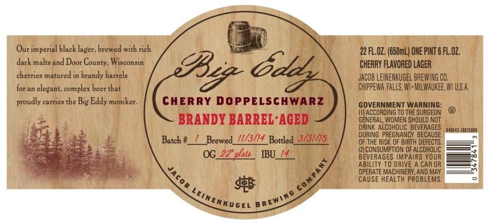 Leinenkugel Big Eddy Cherry Doppleschwarz