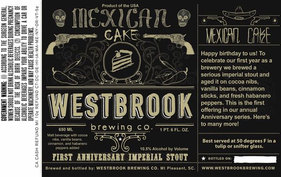 Westbrook Mexican Cake Cognac Barrel-Aged