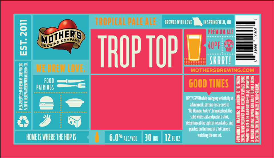 Mother's Brewing Trop Top