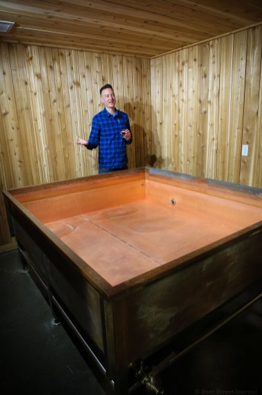 The coolship at Mountains Walking Brewery in Bozeman