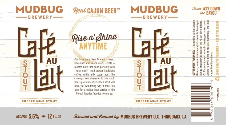Mudbug Brewery Cafe Au Lait Stout