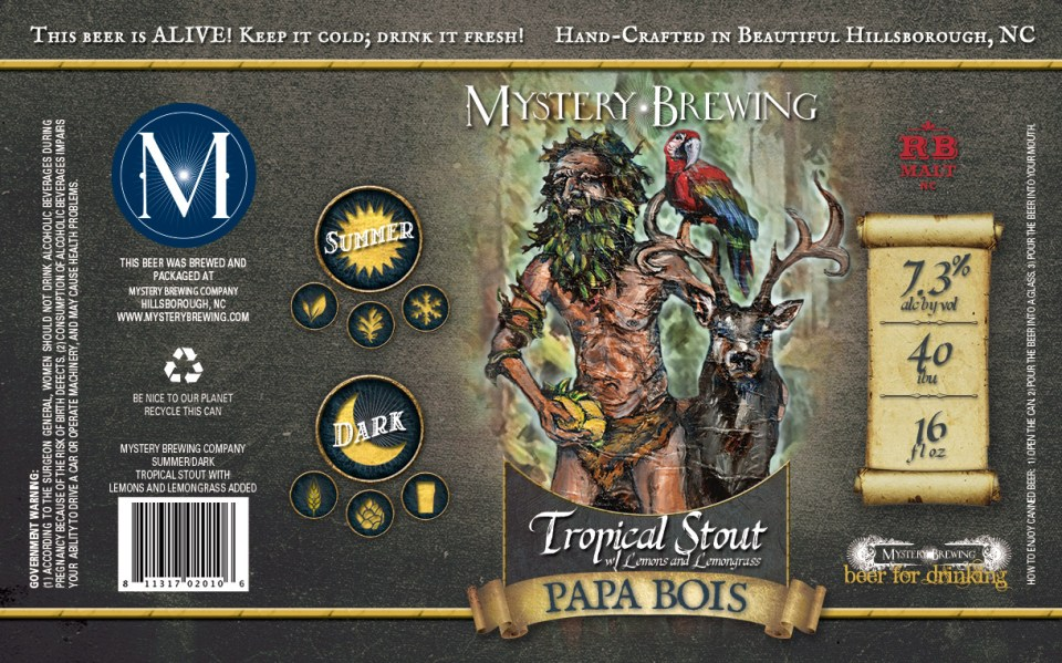Mystery Brewing Papa Bois Tropical Stout