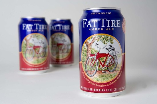 New Belgium Fat Tire Cans