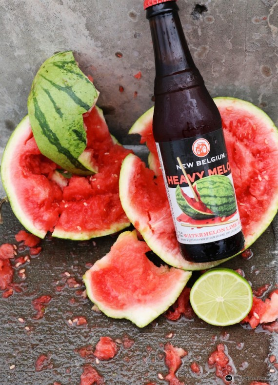 New Belgium Heavy Melon bottle