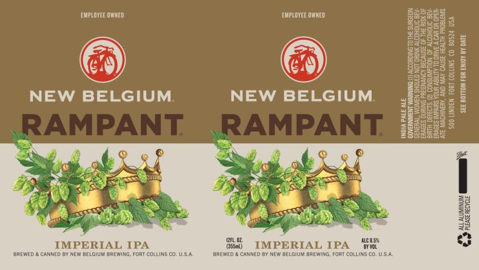 New Belgium Rampant Imperial IPA Cans