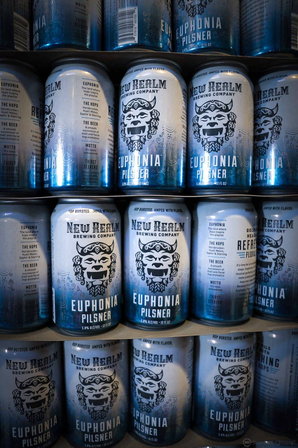 New Realm Euphonia Pilsner canstack
