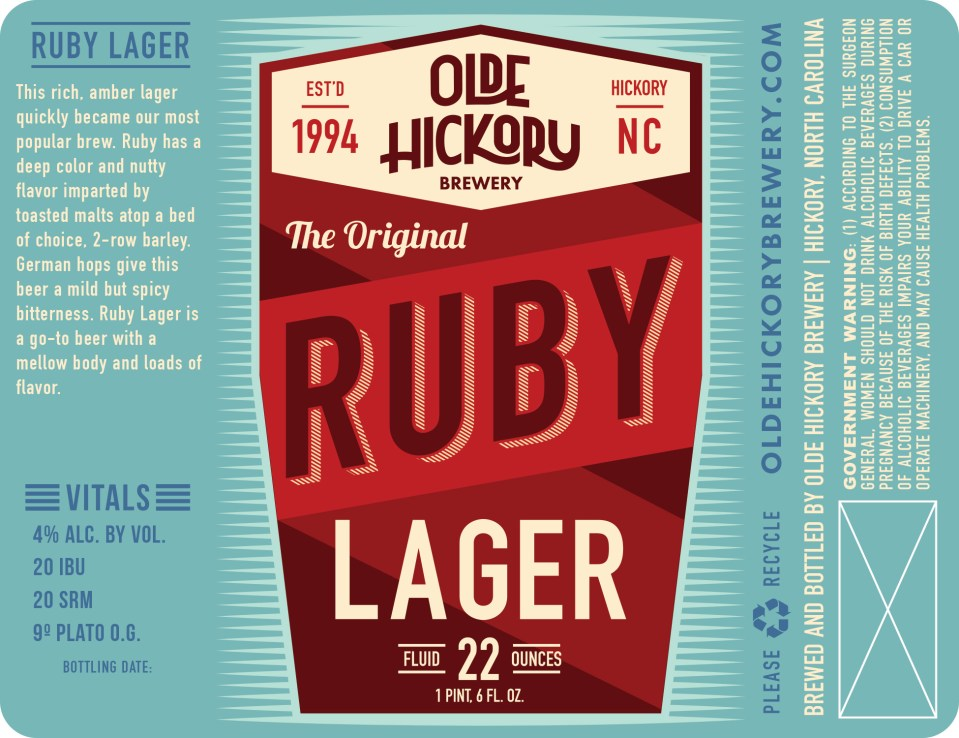 Olde Hickory Ruby Lager