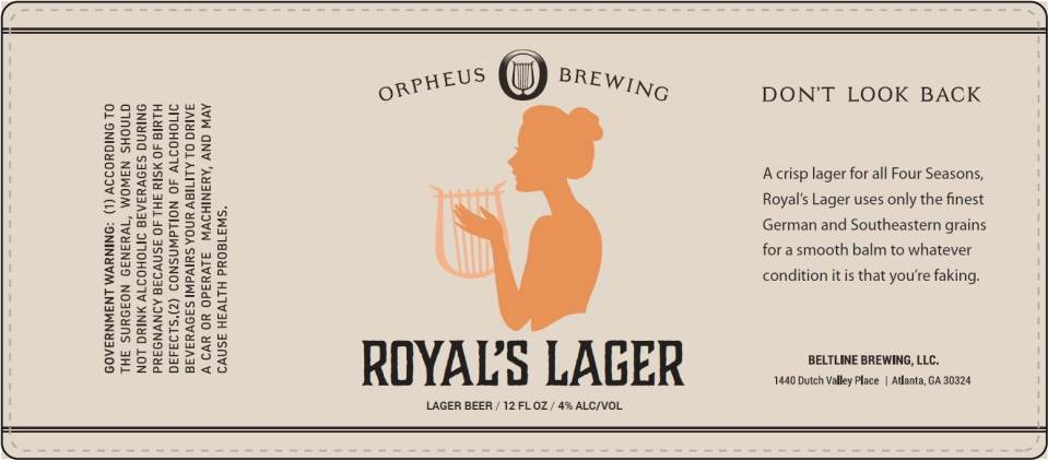 Orpheus Brewing Royal's Lager