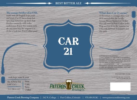 Pateros Creek Car 21