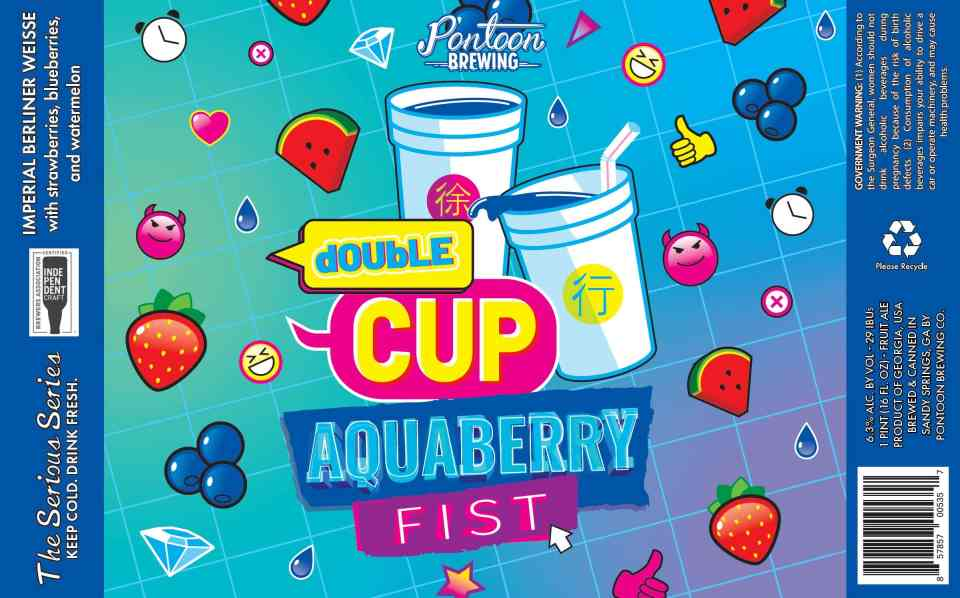Pontoon Double Cup Aquaberry Fist