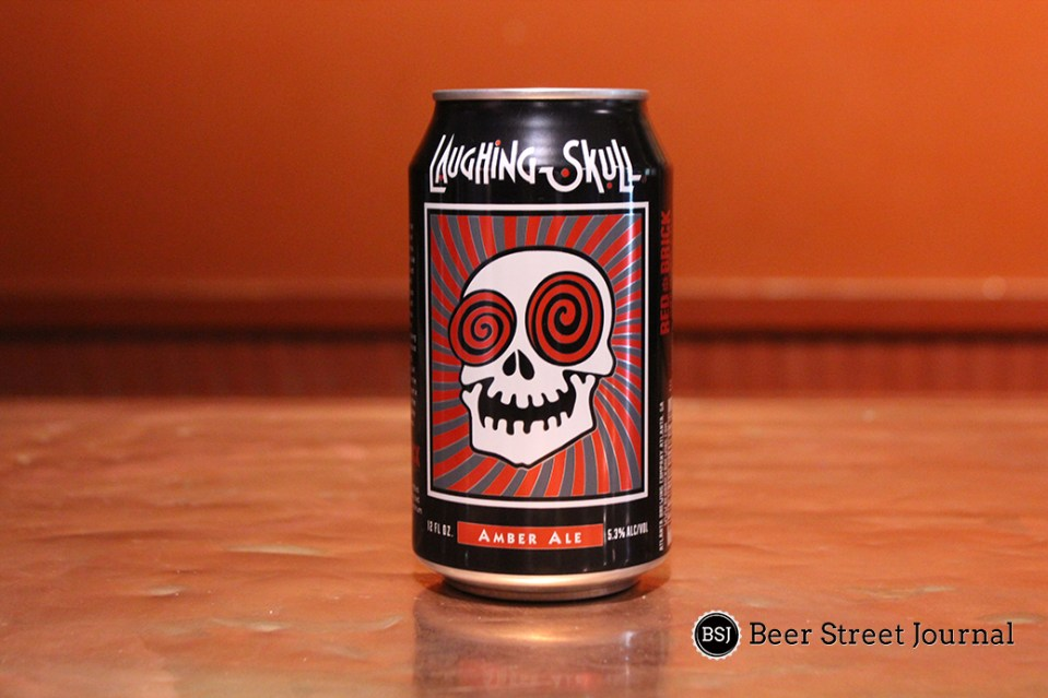Red Brick Laughing Skull Cans