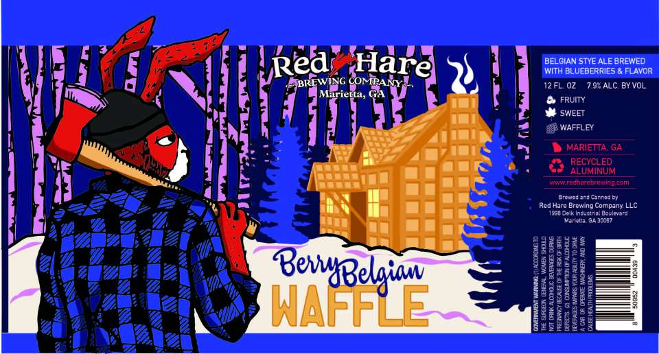 Red Hare Berry Belgian Waffle