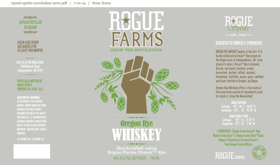 Rogue Farms Oregon Rye Whiskey