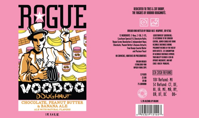 Rogue Voodoo Donut Chocolate Peanut Butter Banana