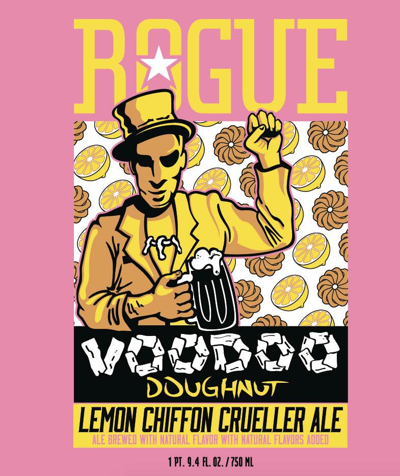 Rogue Voodoo Doughnut Lemon Chiffon Crueller