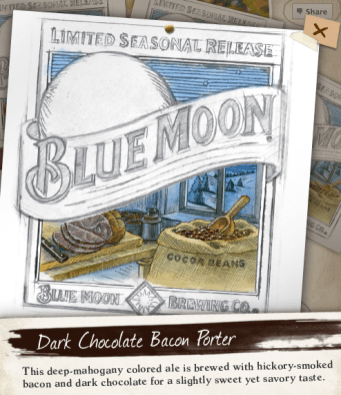 Blue Moon Dark Chocolate Bacon Porter