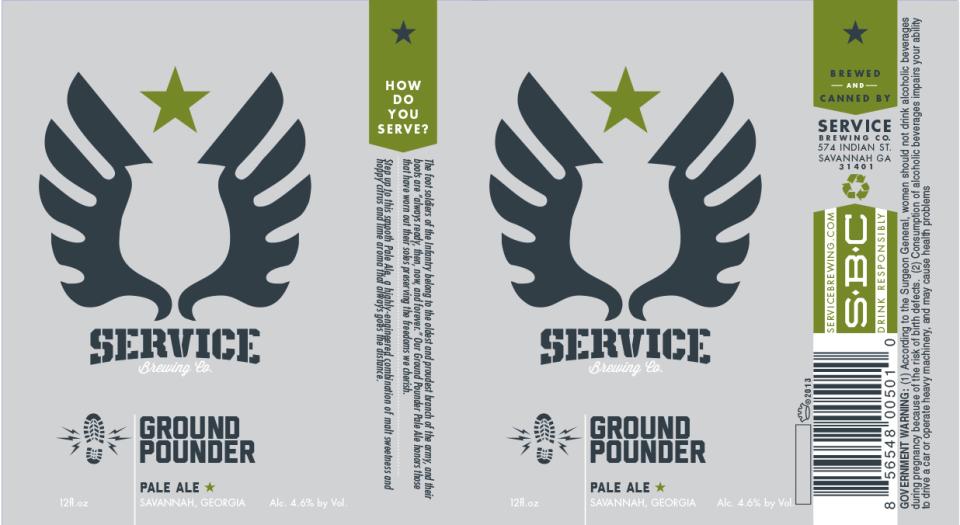 Service Brewing Ground Pounder Pale Ale