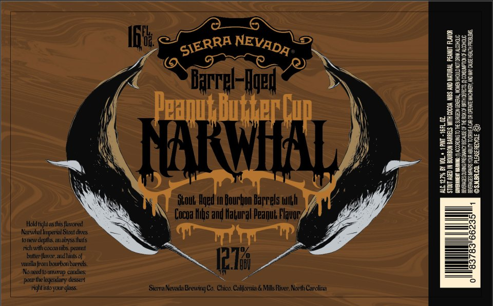 Sierra Nevada Barrel Aged Peanut Butter Cup Narwhal