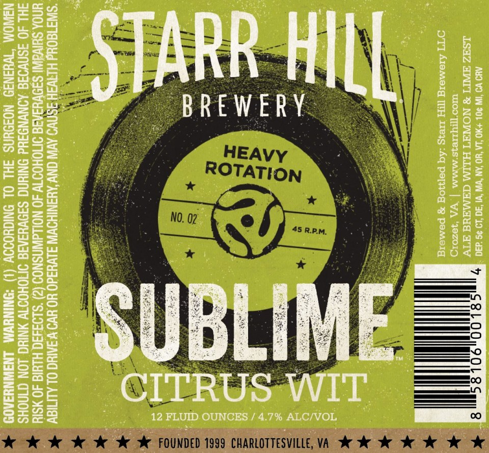Starr Hill Sublime Citrus Wit