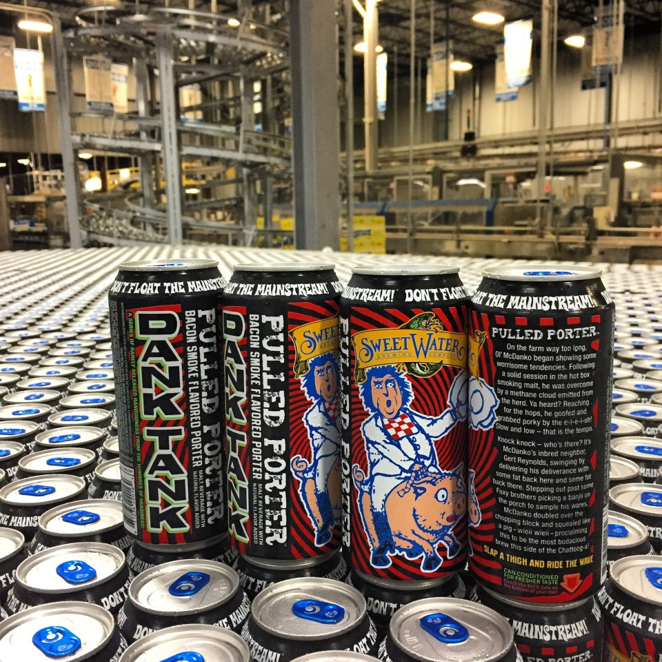 SweetWater Pulled Porter cans