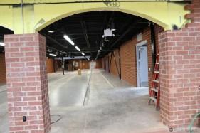 Brick arches.