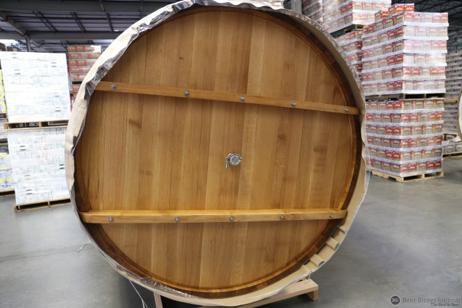 Foudre on its side. Getting it off the truck was the easy part.