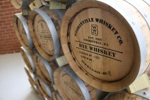 Woodinville Rye Whiskey barrels. (Woodinville, WA)