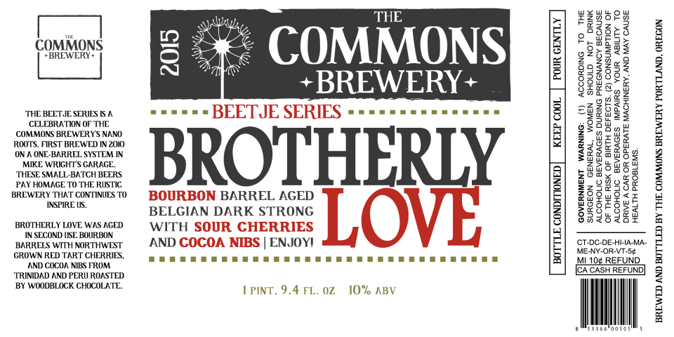 The Commons Brewery Brotherly Love 2015