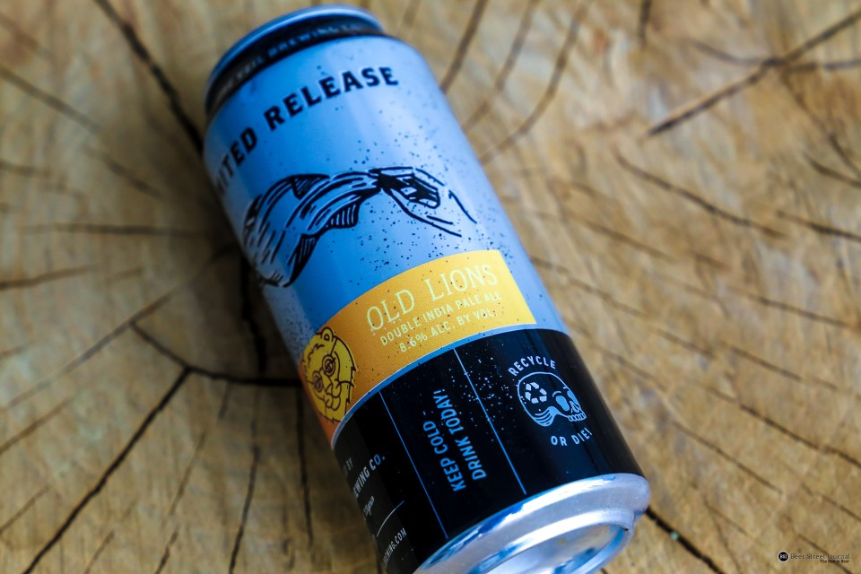 The Veil Brewing Old Lions Imperial IPA can