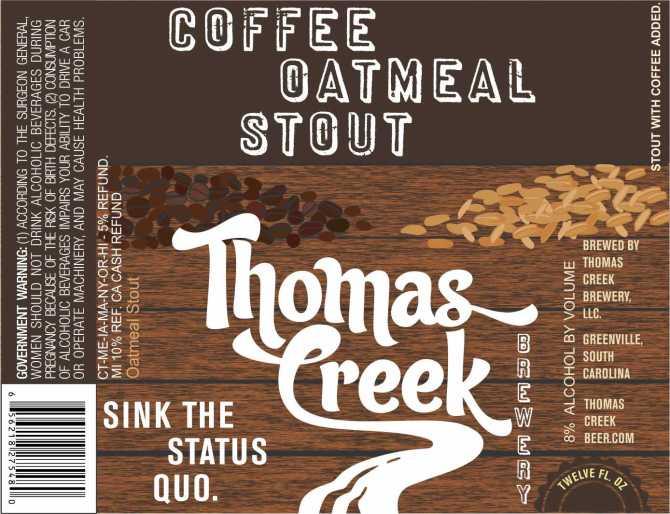 Thomas Creek Coffee Oatmeal Stout
