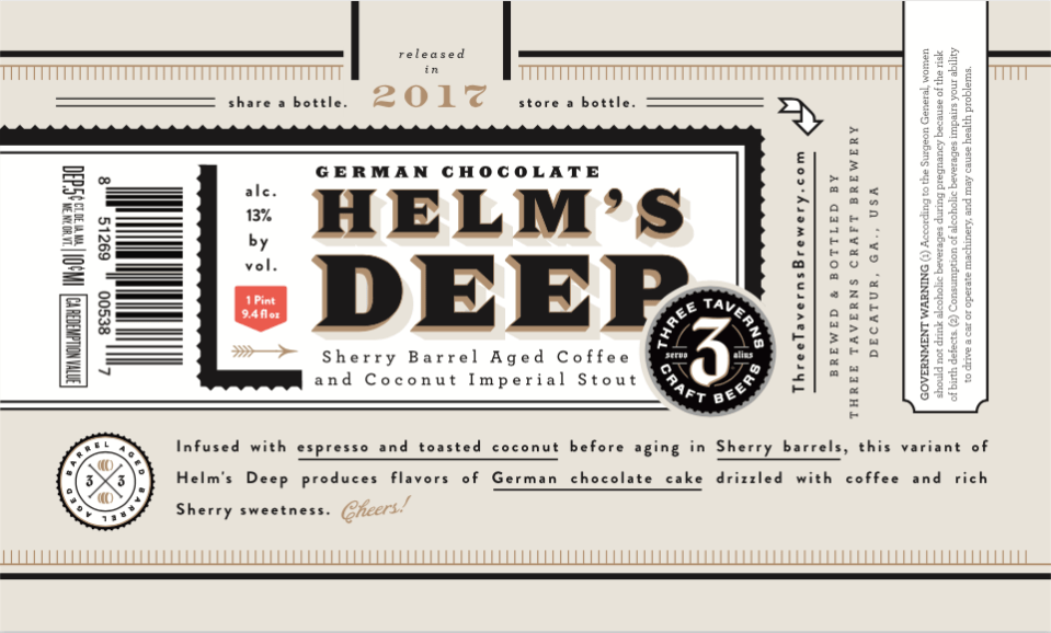 Three Taverns German Chocolate Helm's Deep