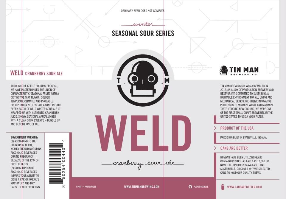 Tin Man Weld Cranberry Sour Ale