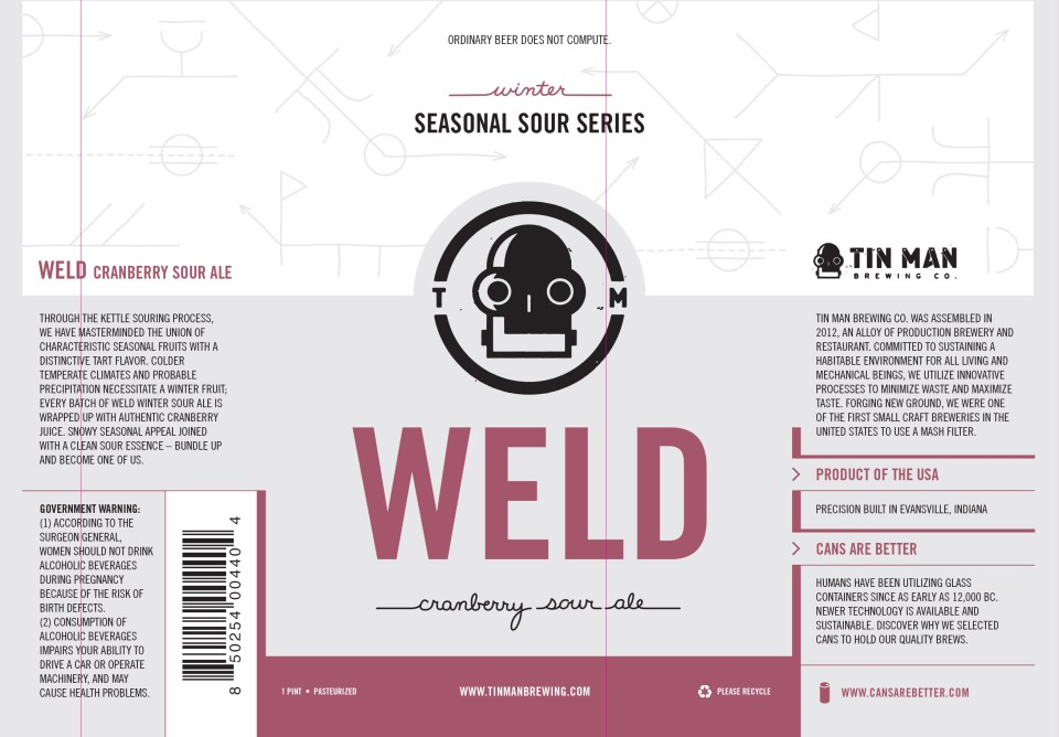 Tin Man Weld Cranberry Sour Ale