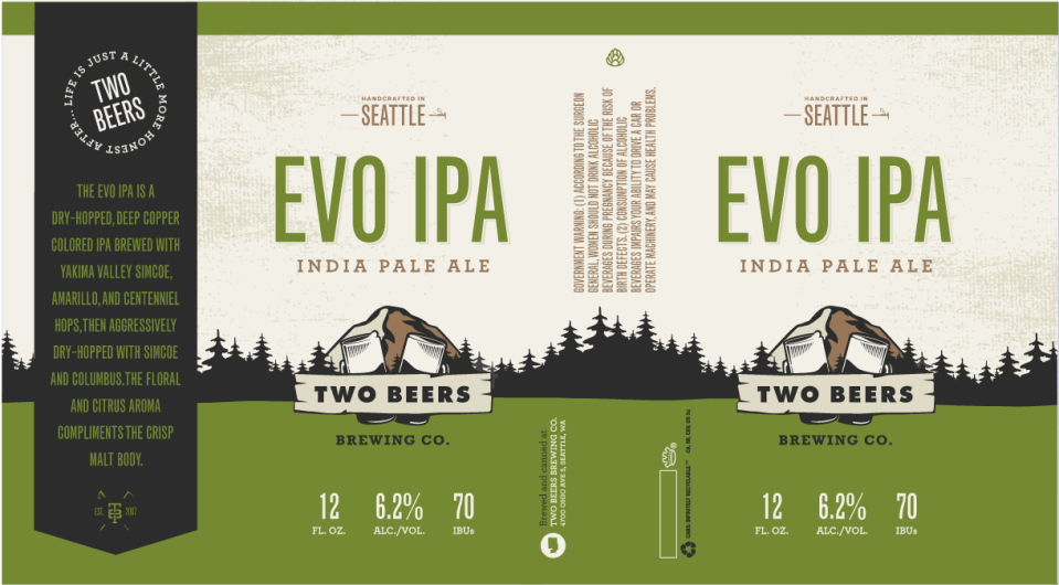 Two Beers Brewing EVO IPA