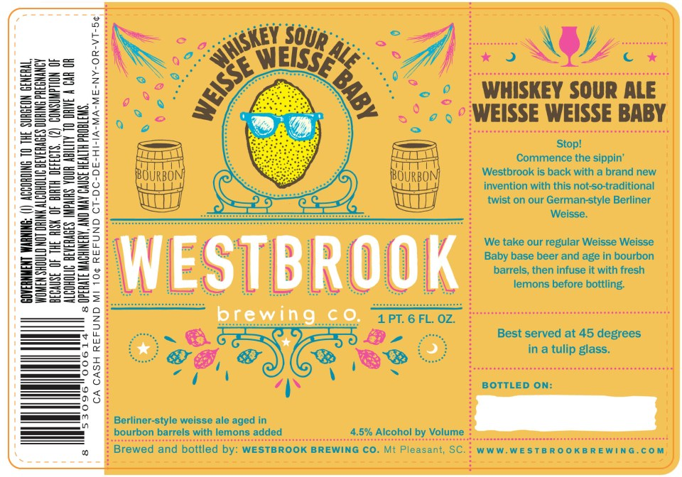 Westbrook Whiskey Sour Weisse Weisse Baby