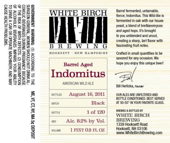 White Birch Barrel Aged Indomitus