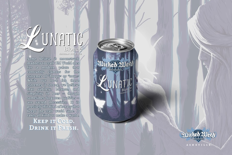 Wicked Weed Lunatic can sales sheet