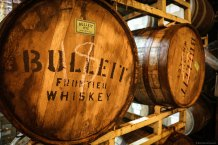 Rare sight: Bulleit Bourbon barrels in a brewery