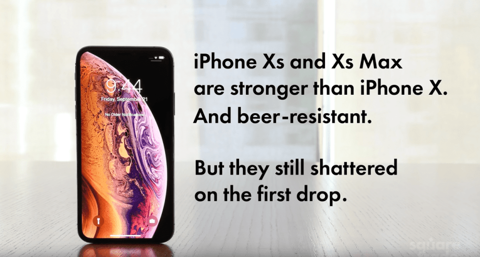 iPhone Xs Beer Dunking